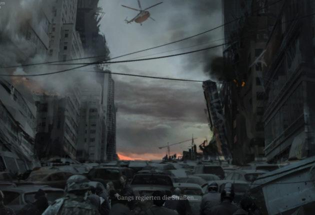 Zerstörung, wohin man schaut, denn Gangs regieren die Straßen.