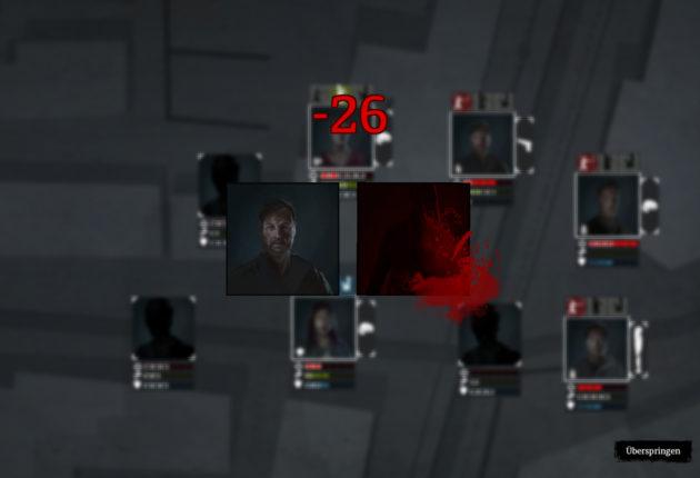 Treffer! Der Gegner muss gehörig einstecken. Leider ist die Pistole anschließend auch hin.